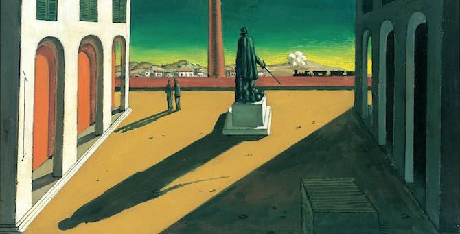 [Komentar] Giorgio De Chirico: Kaj umetnik dela, ko dela? Tisto, kar je najtežje: nič.