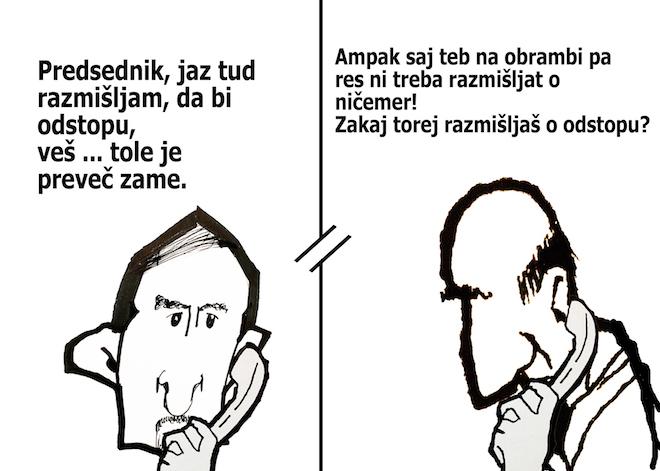 [Karikatura] Tonin kliče Janšo