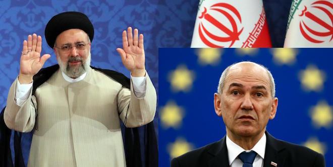"""[Komentar] Janša vs iranski režim: So človekove pravice za Evropsko unijo po novem stvar pregmatizma in """"višjih interesov""""?"""
