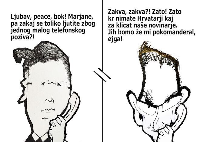 """[Karikatura] Šarec: """"Vsak naj ukazuje svojim."""""""