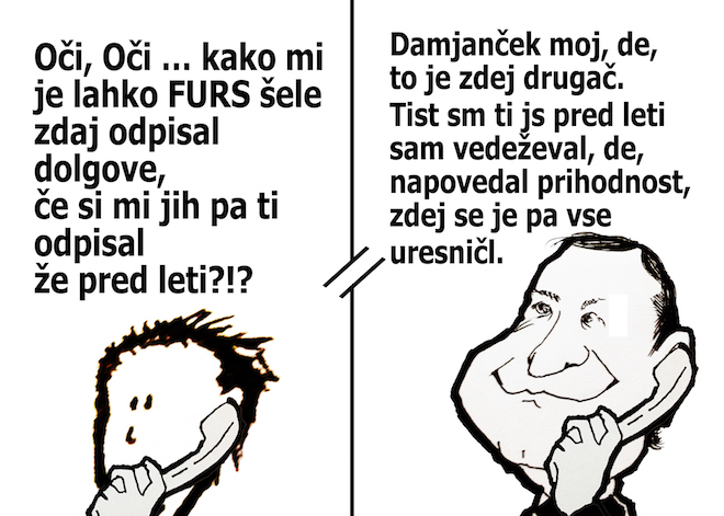 [Karikatura] Odpustite jim, saj ne vedo, kaj delajo ...
