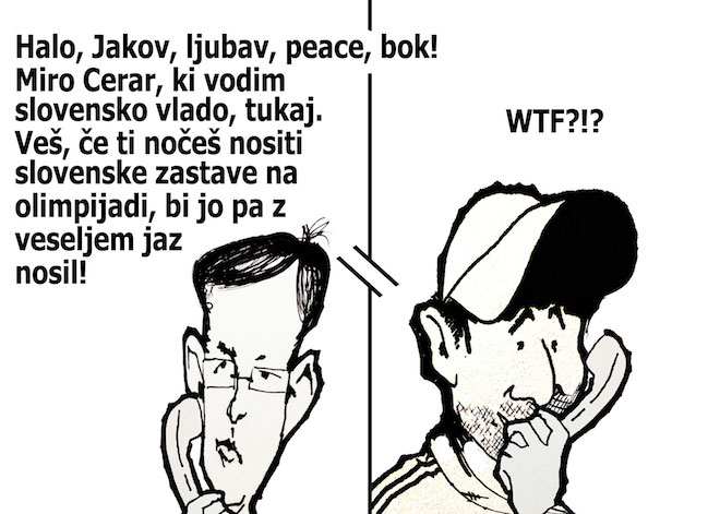 [Karikatura] Zastavonoša